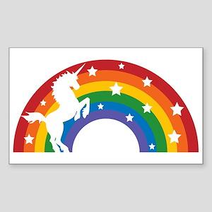 Retro Rainbow Unicorn Sticker