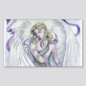 Angel Rectangle Sticker