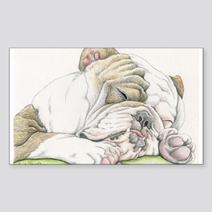Sleepy English Bulldog Sticker