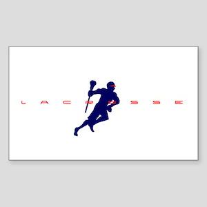 Lacrosse Rectangle Sticker