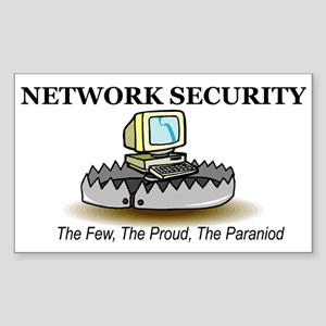 Network Security Rectangle Sticker