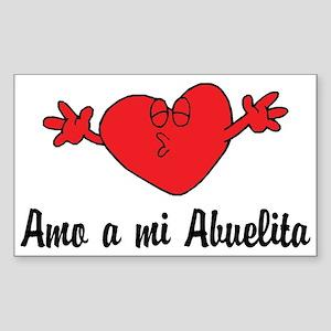 Amo a mi Abuelita Rectangle Sticker