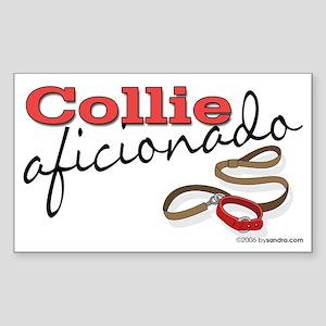Collie Aficionado Rectangle Sticker