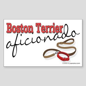 Boston Terrier Rectangle Sticker