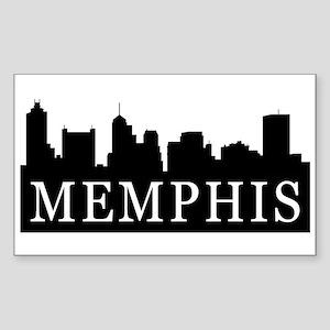 Memphis Skyline Rectangle Sticker