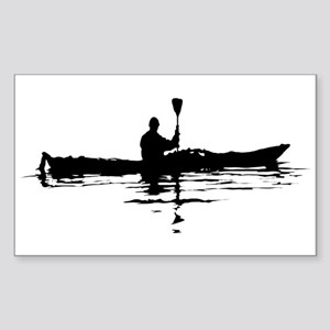 Kayaking Rectangle Sticker