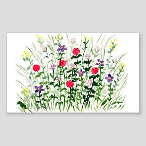 Field of Flowers Rectangle Sticker
