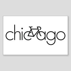Bike Chicago Sticker (Rectangle)
