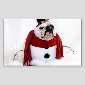 Snowman Sticker (Rectangle)