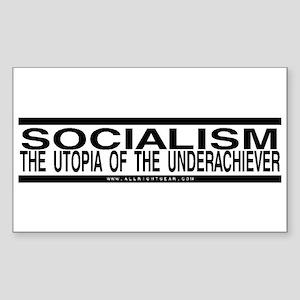 Socialism Utopia Rectangle Sticker