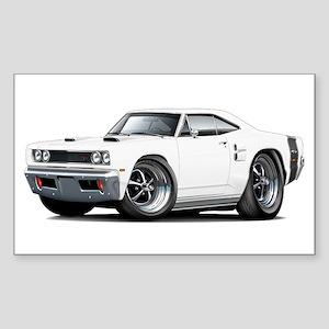 1969 Coronet White Car Sticker (Rectangle)
