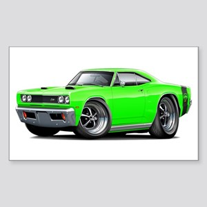 1969 Super Bee Lime Car Sticker (Rectangle)
