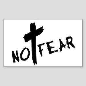No Fear Rectangle Sticker