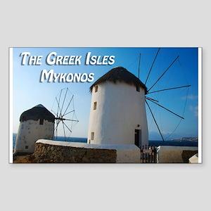 Windmills on Mykonos Island Greece Sticker