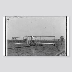 Wright Brothers Airplane Shop Sticker (Rectangular
