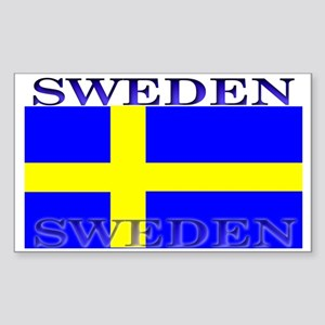 Sweden Swedish Flag Rectangle Sticker
