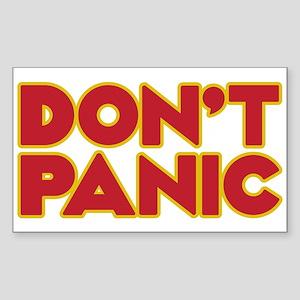 Don't Panic Sticker (rectangle)