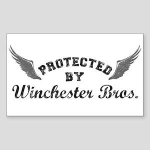 SUPERNATURAL Winchester Bros. gray Sticker (Rectan