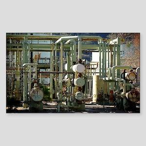 Oil Refinery Sticker (Rectangle)