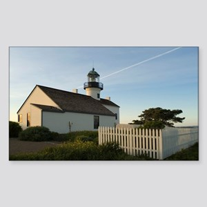 point loma lighthouse Sticker (Rectangle)