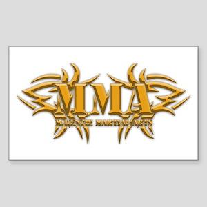 MMA Logo - Gold Sticker (Rectangle)
