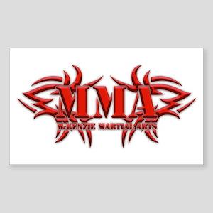MMA Logo Red - Sticker (Rectangle)