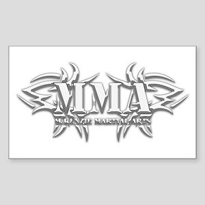 MMA Logo White - Sticker (Rectangle)