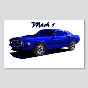 Mach 1 Rectangle Sticker