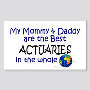 Best Actuaries In The World Rectangle Sticker