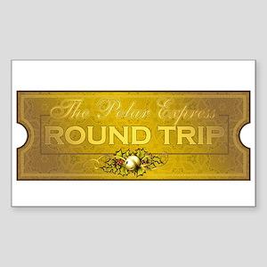 Polar Express - Round Trip Ticket Rectangle Sticke
