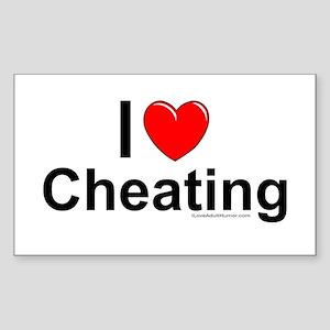 Cheating Sticker (Rectangle)