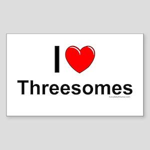 Threesomes Sticker (Rectangle)
