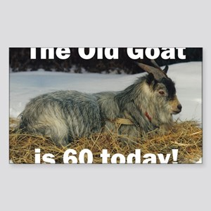 goat60ys Sticker (Rectangle)