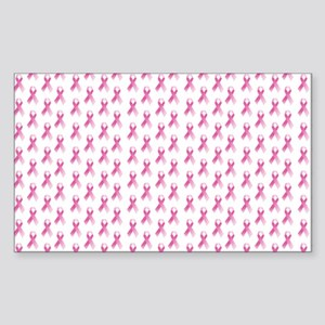 Breast Cancer Awareness Pink R Sticker (Rectangle)