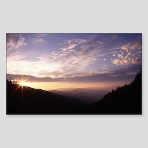 Great Smoky Mountain National  Sticker (Rectangle)