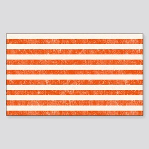 Vintage Orange and White Beach Sticker (Rectangle)