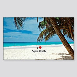 I Love Naples, Florida Sticker (Rectangle)