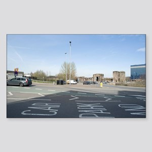 Newport, Wales Sticker (Rectangle)