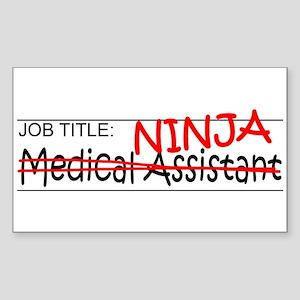 Job Ninja Med Asst Sticker (Rectangle)