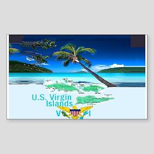 VIRGIN ISLANDS Sticker (Rectangle)