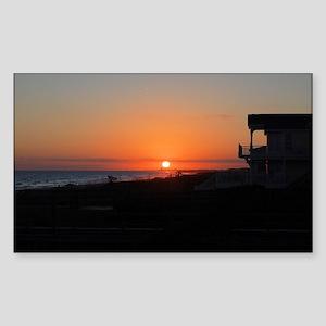 Beautiful Beach Sunset Sticker (Rectangle)
