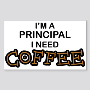 Principal Need Coffee Rectangle Sticker
