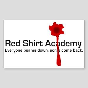Red Shirt Academy Rectangle Sticker