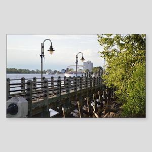 River Walk Wilmington  Sticker (Rectangle)
