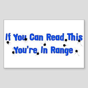 In Range Rectangle Sticker