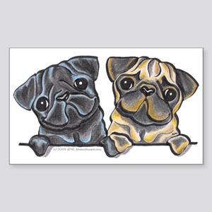 Pug Pals Sticker (Rectangle)