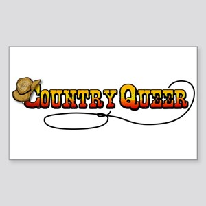 Cowboy Queer Rectangle Sticker