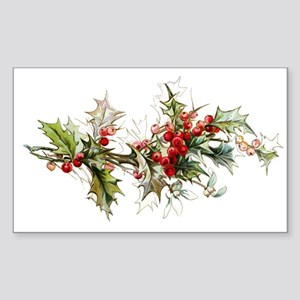 Holly and berries Sticker