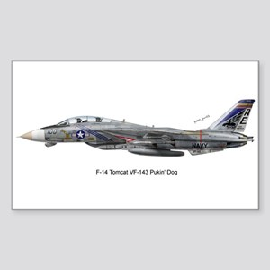 VF-143 Pukin' Dogs Rectangle Sticker