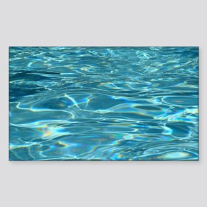 Crystal Clear Water Sticker (Rectangle)